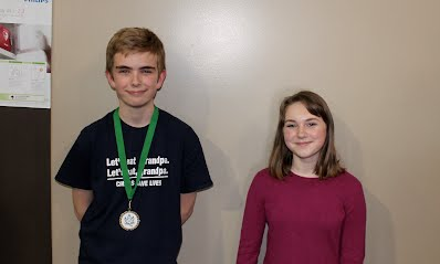 2016 Halifax Grammar School Invitational junior high top speakers: 1st Matthew Farrell (Halifax Grammar), 2nd Madeleine Peet (Sacred Heart).