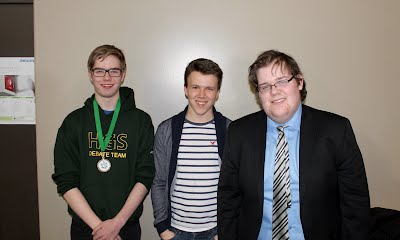 2016 Halifax Grammar School Invitational senior high top speakers: 1st Jack Farrell (Halifax Grammar), 2nd Tom Fraser (Halifax Grammar), 3rd Hamish Wright (Fredericton High School).
